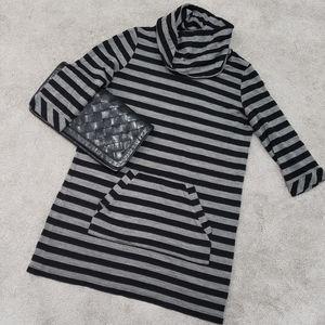 Stripped Cowl Neck Dress/Tunic